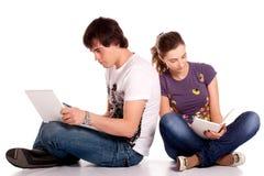 Allievo dei giovani delle coppie Fotografia Stock Libera da Diritti