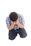 Allievo dell'adolescente con timore Fotografie Stock Libere da Diritti