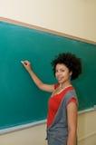 Allievo dell'afroamericano in aula Immagine Stock Libera da Diritti