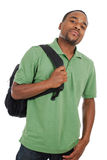 Allievo dell'afroamericano con il sacchetto Fotografia Stock Libera da Diritti