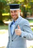 Allievo di laurea felice Immagine Stock