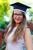 Allievo di laurea felice Fotografia Stock Libera da Diritti
