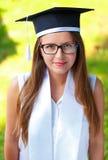 Allievo di laurea felice Immagini Stock Libere da Diritti