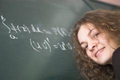 Allievo di per la matematica Immagini Stock Libere da Diritti