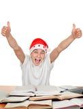 Allievo felice in cappello della Santa Immagini Stock Libere da Diritti