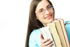 Allievo felice con i libri Fotografia Stock