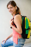 Allievo femminile abbastanza giovane Fotografia Stock Libera da Diritti