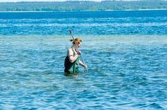Allievo femminile in acqua Fotografia Stock