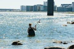 Allievo femminile in acqua Fotografia Stock Libera da Diritti