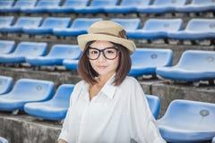 Allievo femminile asiatico Immagini Stock