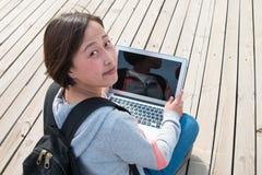 Allievo femminile asiatico Fotografia Stock