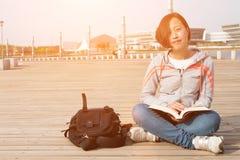 Allievo femminile asiatico Fotografie Stock Libere da Diritti