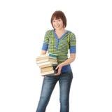 Allievo femminile con i libri Immagine Stock