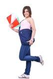 Allievo femminile con il sacchetto Fotografia Stock Libera da Diritti
