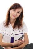 Allievo femminile con un libro Fotografia Stock Libera da Diritti