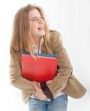 Allievo femminile di risata Immagine Stock Libera da Diritti