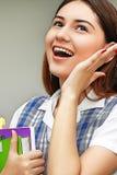 Allievo femminile emozionante Fotografia Stock Libera da Diritti
