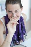 Allievo femminile grazioso Fotografia Stock