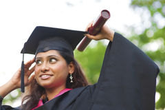 Allievo femminile indiano asiatico Fotografia Stock Libera da Diritti