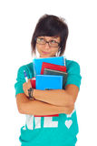 Allievo femminile, osservante in su Fotografie Stock Libere da Diritti