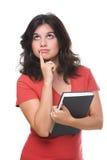 Allievo femminile premuroso Fotografie Stock Libere da Diritti