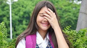 Allievo femminile timido Fotografia Stock