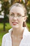 Allievo femminile in vetri Fotografia Stock Libera da Diritti