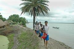 Allievo indiano del villaggio. Fotografia Stock Libera da Diritti
