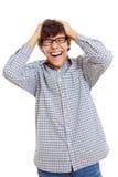 Allievo latino realmente felice Immagine Stock Libera da Diritti
