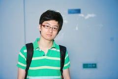 Allievo maschio asiatico Immagine Stock