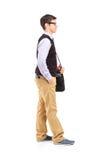 Allievo maschio che si leva in piedi nella riga Fotografia Stock Libera da Diritti