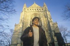 Allievo maschio dall'Università di Princeton fotografia stock libera da diritti