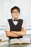 Allievo maschio dell'istituto universitario cinese Immagini Stock