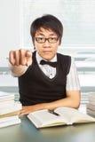 Allievo maschio dell'istituto universitario cinese Fotografie Stock Libere da Diritti