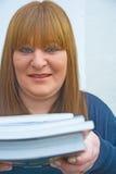 Allievo maturo con i libri. Immagine Stock