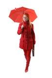 Allievo nel colore rosso Fotografia Stock