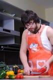 Allievo nella cucina Immagine Stock Libera da Diritti