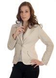 allievo, segretaria o donna di affari con una penna Fotografia Stock