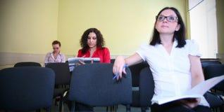 Allievo in una conferenza Immagini Stock