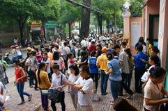 Allievo vietnamita con esame Immagine Stock Libera da Diritti