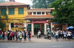 Allievo vietnamita con esame Immagini Stock Libere da Diritti