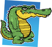 Alligator. Vector illustration of a smirking cartoon alligator Stock Photo