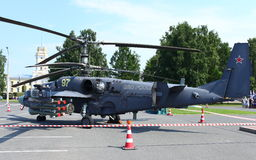 Alligator Attack helicopters Ka-52 Stock Image