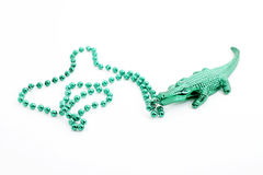 Alligator bead necklace Royalty Free Stock Images
