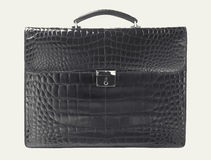 Alligator briefcase Royalty Free Stock Photography