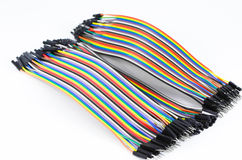 Alligator clamp jumper. Cable on white background Royalty Free Stock Photo
