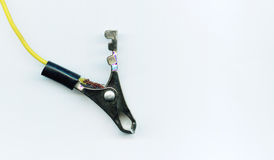 Alligator clip used in electrical Royalty Free Stock Photography