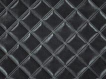 Alligator or crocodile black Leather Square stitched texture. Alligator or crocodile black Leather. Square stitched texture or background with bumps. 3d render royalty free illustration