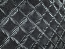 Alligator or crocodile black Leather Square stitched texture. Alligator or crocodile black Leather. Square stitched texture or background with bumps. 3d render stock illustration