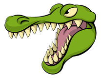 Alligator or crocodile cartoon character Stock Images